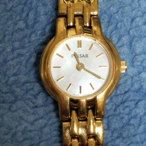 Pulsar Gold Tone Stainless Steel MOP Quartz Women'